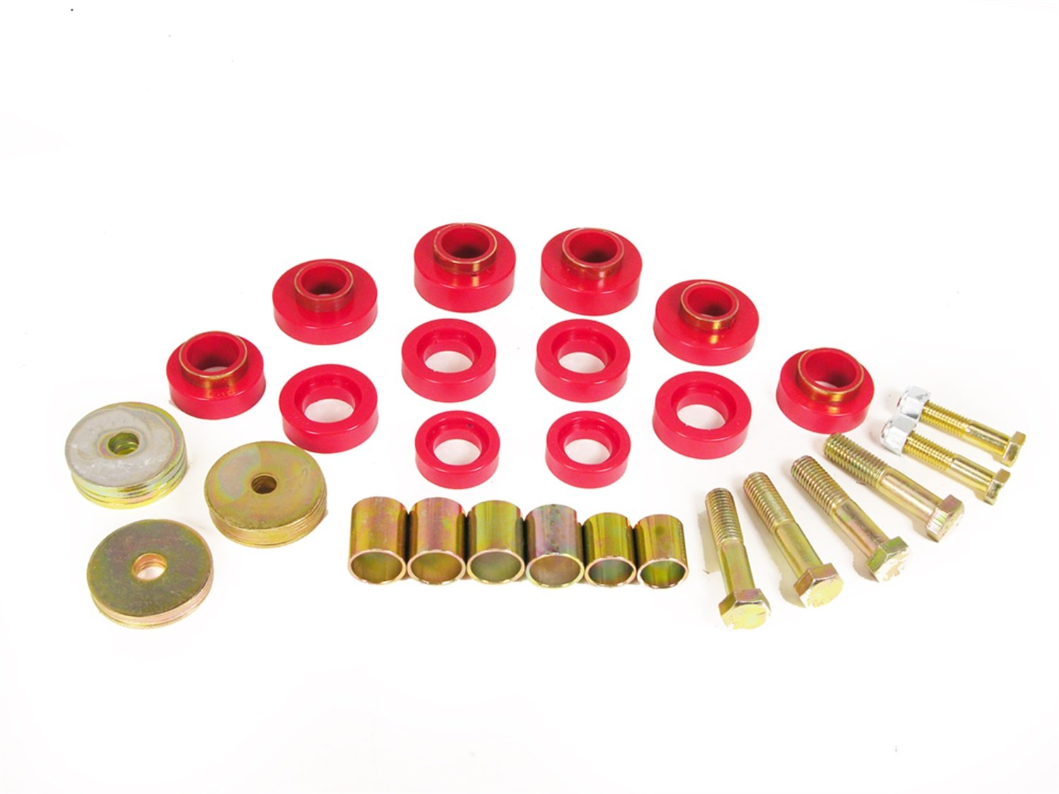 Prothane 7-139 Red Body Mount Kit with Hardware by Prothane