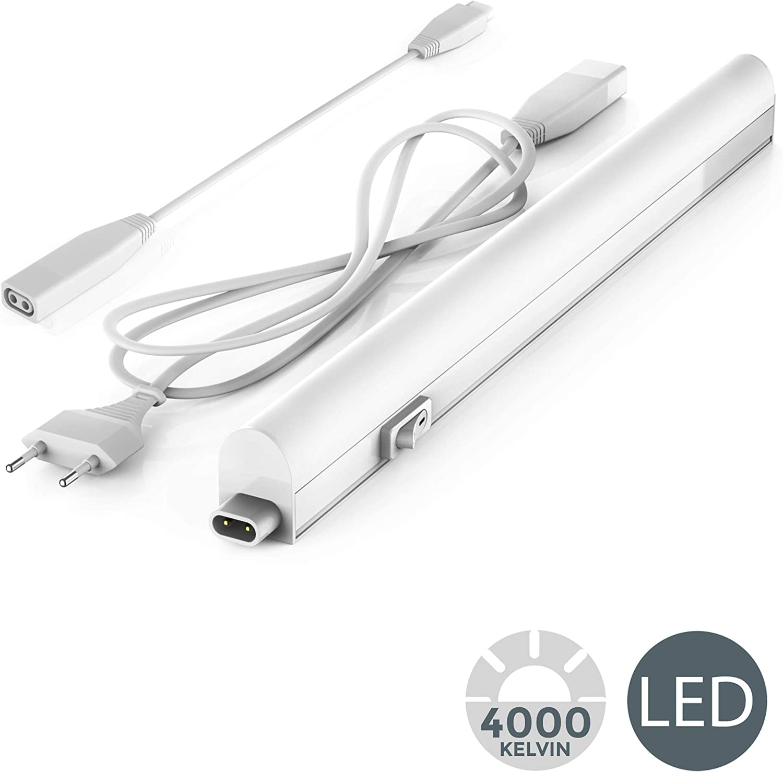 Licht I LED Unterbauleuchte I Lichtleiste I 57,3cm I 8W I 700lm I 4.000K neutralwei/ß I erweiterbar durch Stecksystem B.K