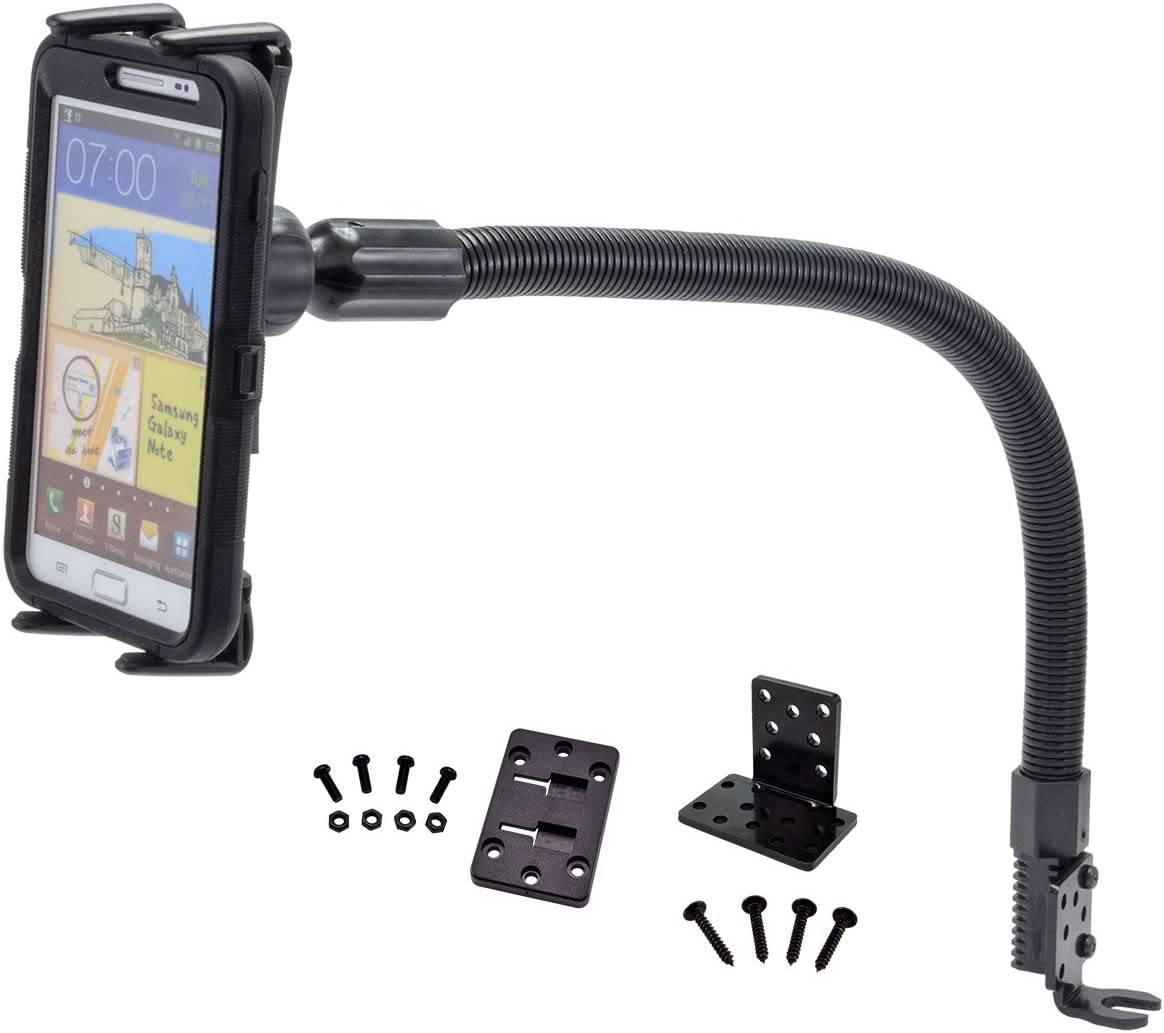 Arkon Car Cup Holder Phone and Midsize Tablet Mount for iPhone 6 Plus 7 Plus Galaxy Tab Retail Black