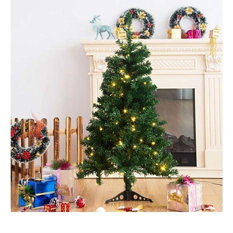 4ft christmas tree with lights fibre optic 4ft prelit charlie pine artificial christmas tree wplastic stand led lights amazoncom