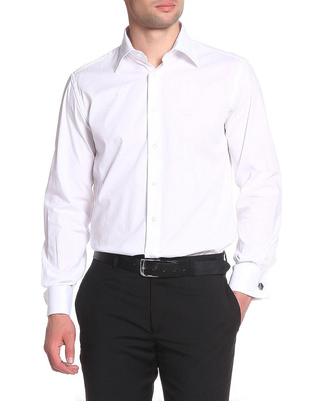 TALLA 40. Roberto Cavalli - Camisa Slim Fit para Hombre FSR700