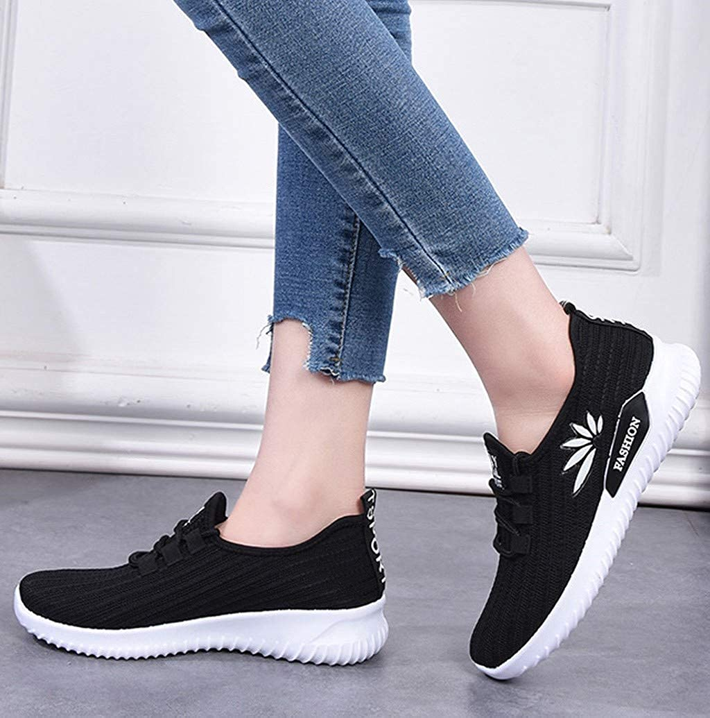 Women Outdoor Breathable Lace Up Sports Shoes Sneakers Leisure Anti-Skid Lightweight Tennis Sneaker by Nevera