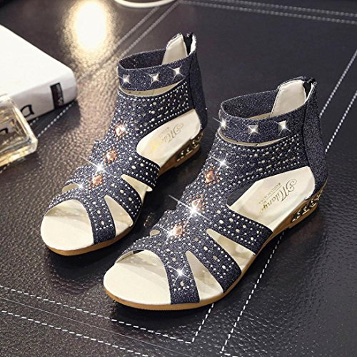 Sale Fashion US Ladies 7 Roma Black Sandals Mouth Hollow Spring Wedge Fish Summer Women AIMTOPPY Shoes Beige HOT 5Sqg11
