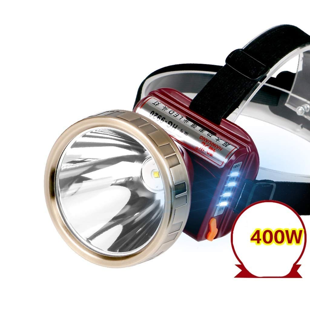 QAZWS Super Bright LED Headlamp with Rechargeable Batteries, Car Charger, Wall Charger and USB Cable