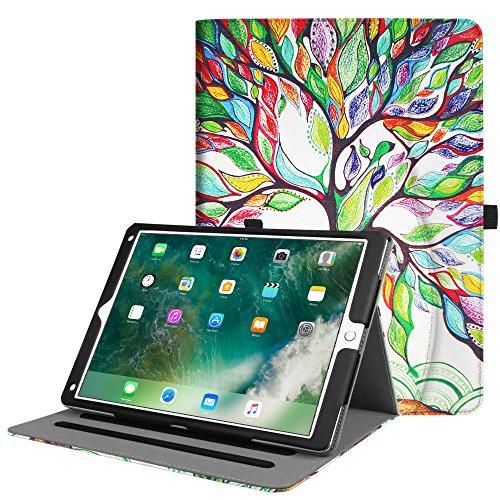 Fintie iPad Pro 12.9 Case - [Corner Protection] Multi-Angle Viewing Folio Stand Cover w/Pocket, Auto Wake/Sleep for Apple iPad Pro 12.9 1st Gen 2015 / iPad Pro 12.9 2nd Gen 2017, Love Tree