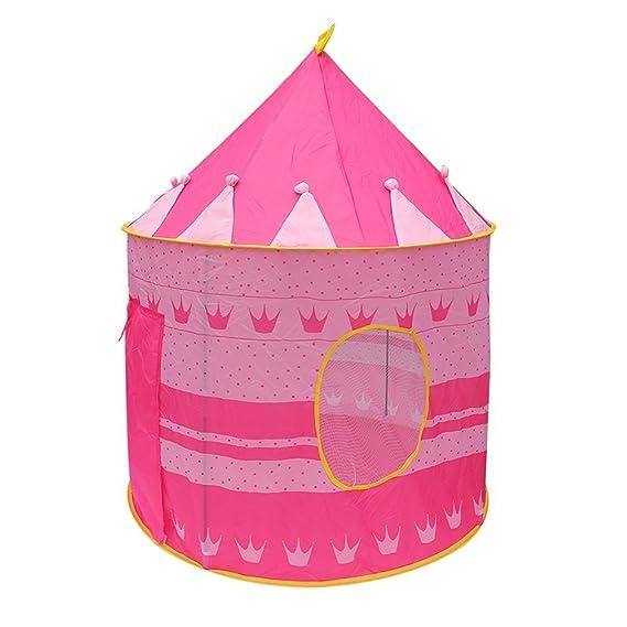 TataYang Tienda de campaña para niñas con Castillo de Princesa y Tienda de campaña portátil para niños en Interiores y Exteriores (Rosa-1): Amazon.es: ...
