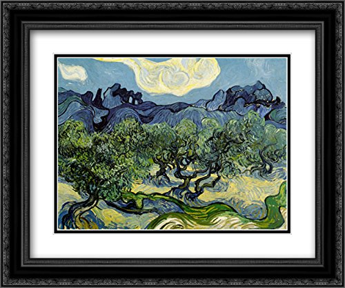 The Olive Trees, 1889 2X Matted 15x18 Black Ornate Framed Art Print by Vincent Van Gogh