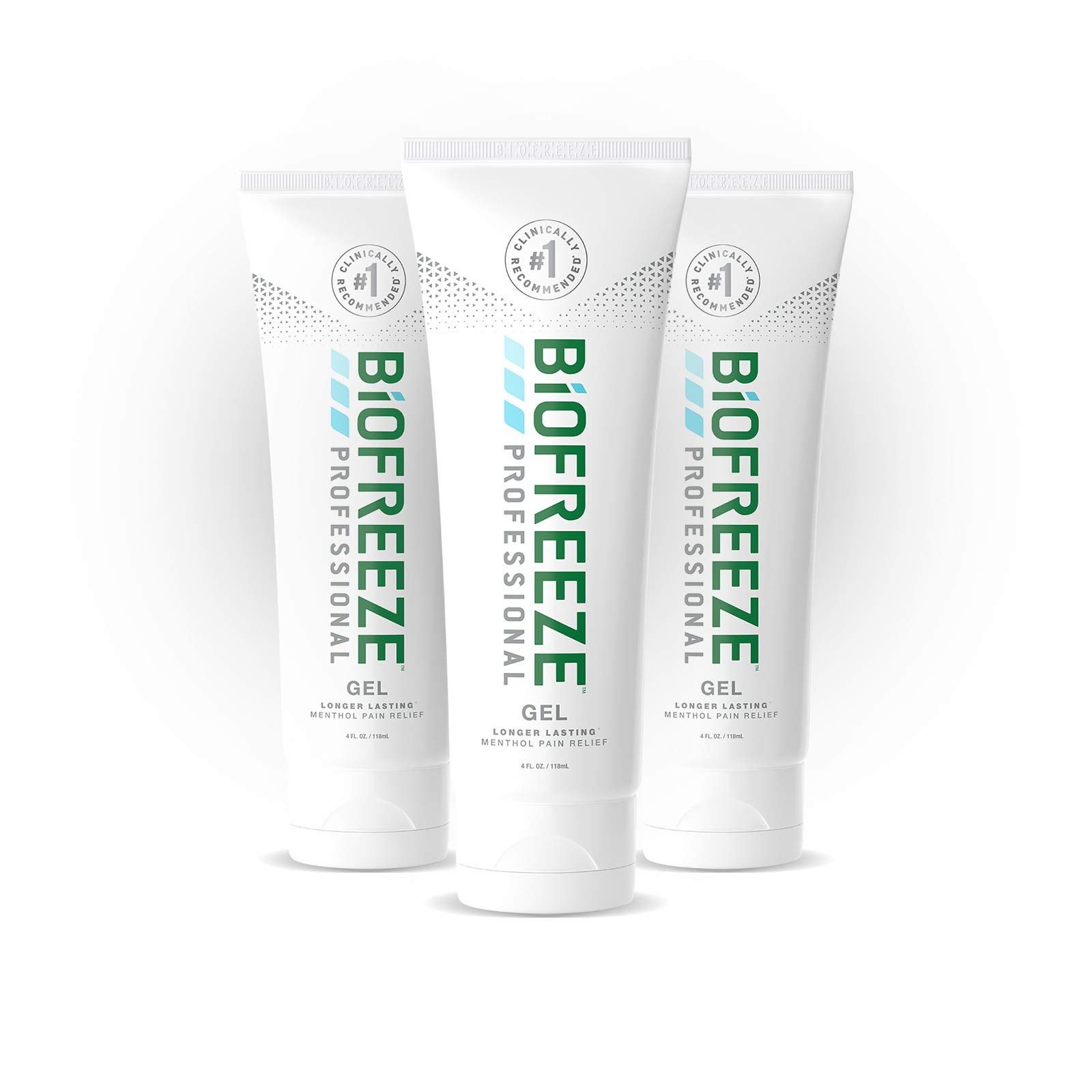 Biofreeze Professional Pain Relief Gel, 4 oz. Tube, Green, Pack of 3 by Biofreeze