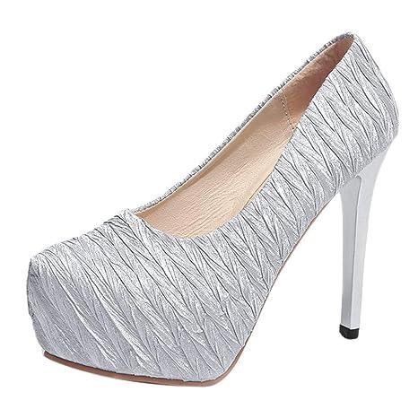 1bdf6257ed173 Amazon.com: ChainSee Women's Round Toe Super High Heel Platform ...