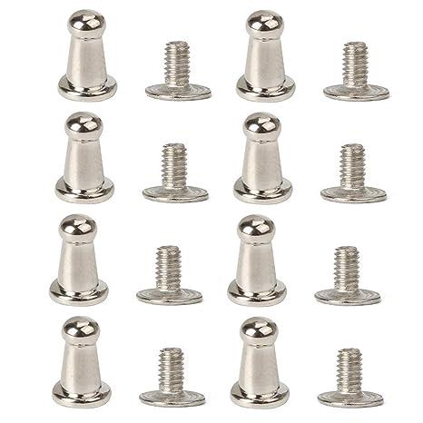 Migavenn 20 UNIDS 7x5mm Remaches Forma Redonda de Metal ...