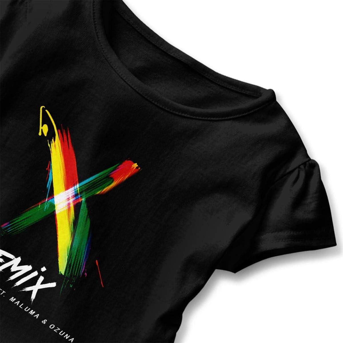 Nicky Jam & J Balvin Niños Niña Camiseta de Manga Corta para ...
