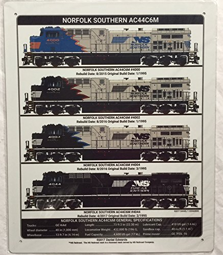 RR Railroad Tin Sign - Norfolk Southern AC44 Diesel Collection/Daniel Edwards Artwork