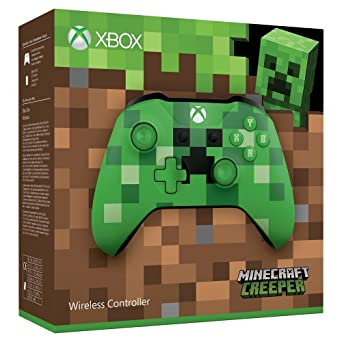 Xbox Wireless Controller Minecraft Green Limited Edition Xbox One - Minecraft mit joystick spielen