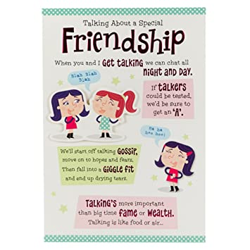 Hallmark Birthday Card for Friend Chat All Night and Day Medium