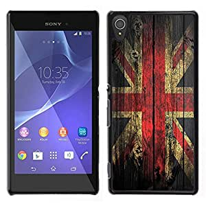 LOVE FOR Sony Xperia T3 Grunge Wood Retro Union Jack Flag Personalized Design Custom DIY Case Cover