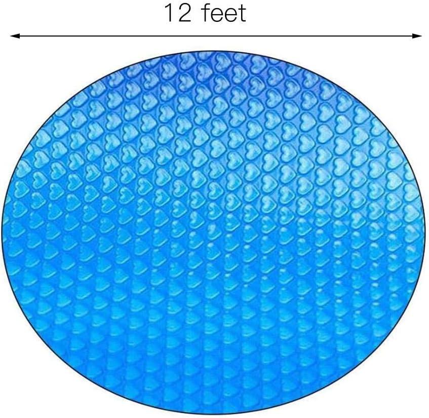 SOWLFE Cubierta de Seguridad para Piscina con Burbujas de Amor en Forma de coraz/ón - 4-15ft Rect/ángulo Redondo Cubierta de Piscina enterrada Protecci/ón UV Tama/ño 8