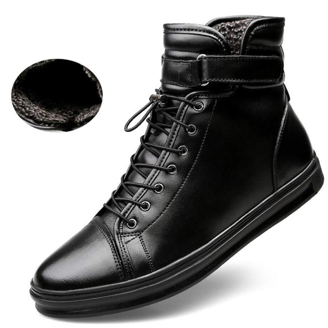 Xxoshoe Bottes de Travail résistantes à l'eau pour Hommes en Cuir Souple Semelle en Caoutchouc Lisse Chaussures de Construction industrielles Personnalité Chaussures à Talons Hauts