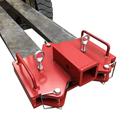 Hodenn 2 inch Forklift Hitch Receiver Dual Pallet Fork Adapter: Automotive