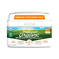 Happy Baby Organic Infant Formula Milk Based Powder with Iron, Stage 1, 21 Ounces...
