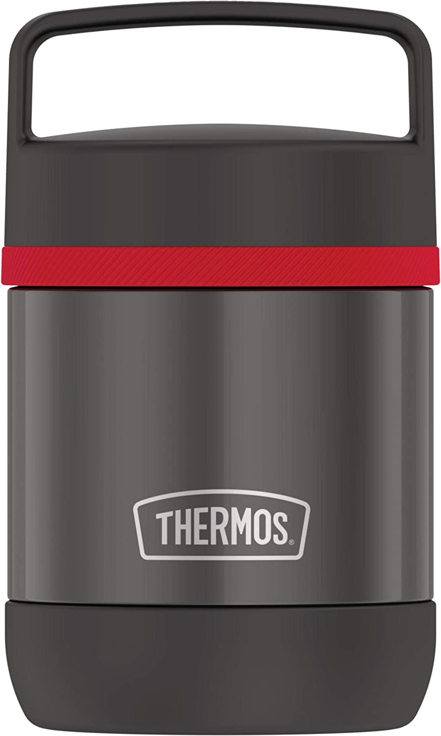 Thermos Stainless Steel Vacuum 10 Ounce handle, Black Insulated Food Jar, 10oz