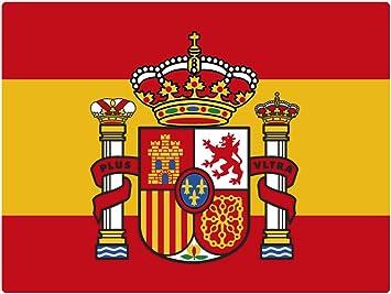 Artimagen Pegatina Bandera Rectángulo Escudo España 120x80 mm.: Amazon.es: Coche y moto