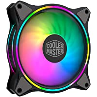 Cooler Master MasterFan MF120 Halo Duo-Ring Addressable RGB Lighting 120mm Fan with Independently-Controlled LEDs…