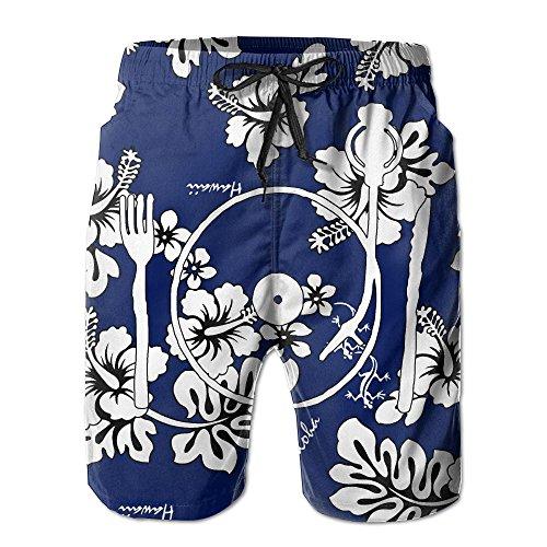 POUYNY Vinyl For Food Mens Elastic Waist Quick-drying Swim Trunks Home Board Shorts Boardshorts XXL (Vinyl Mens Shorts)