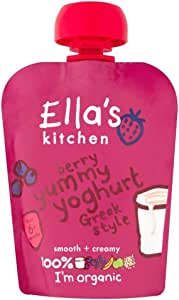 Ella's Kitchen Organic Berry Yummy Yoghurt Greek Style 6mth+ (90g) - Pack of 2