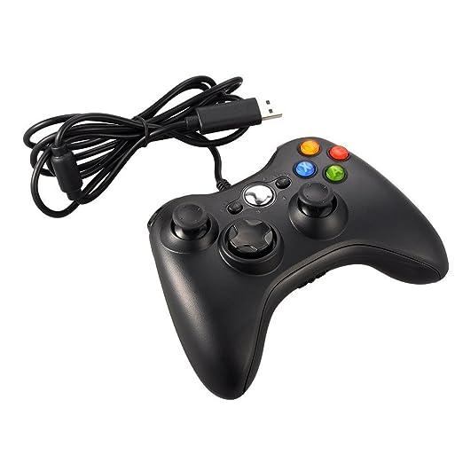 28 opinioni per JAMSWALL Gamepad con cavo USB per XBox 360 PC Joystick Xbox joypad per Microsoft