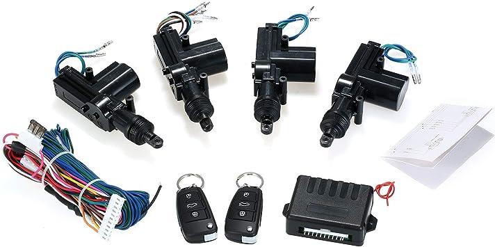 Kkmoon Universal Auto Türschloss Keyless Entry System Zentralverriegelung Fernbedienung Kit Mit 2 Klappschlüssel Unterstützung Trunk Pop Auto