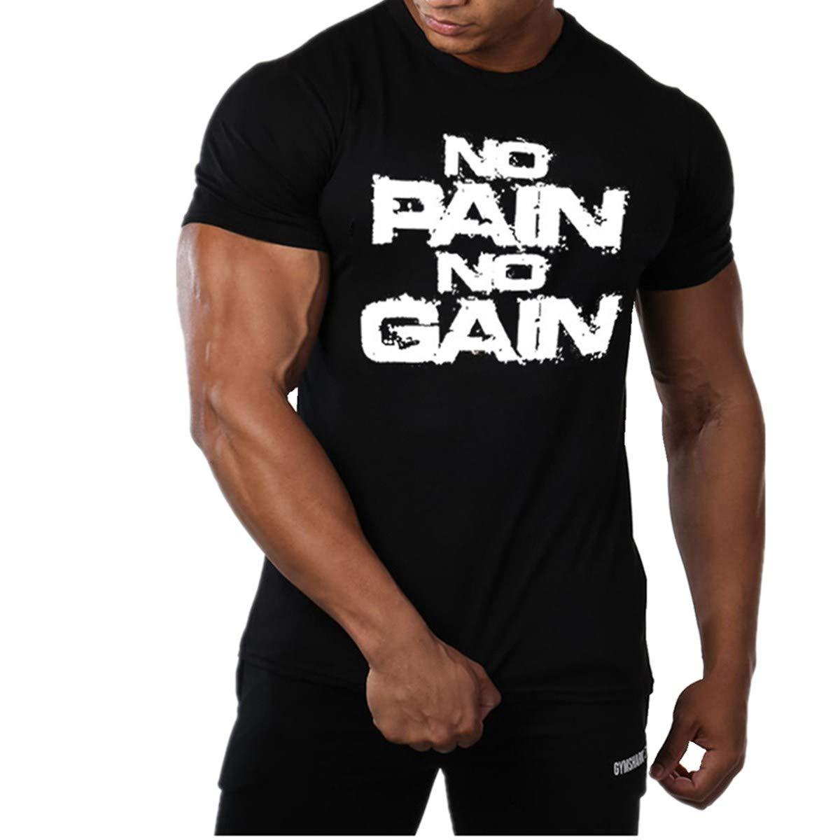 Cabeen Uomo Bodybuilding Manica Corto Palestra Magliette Sportivo T-Shirt