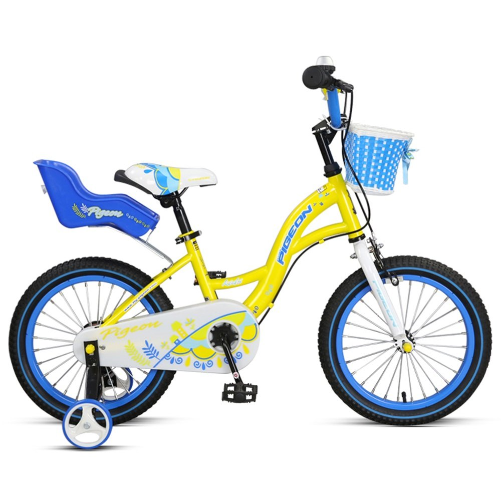 子供用自転車、男の子と女の子用のバイク、バックフレーム棚付き自転車 ( 色 : Blue and yellow , サイズ さいず : 99cm ) B078KP74MW 99cm|Blue and yellow Blue and yellow 99cm