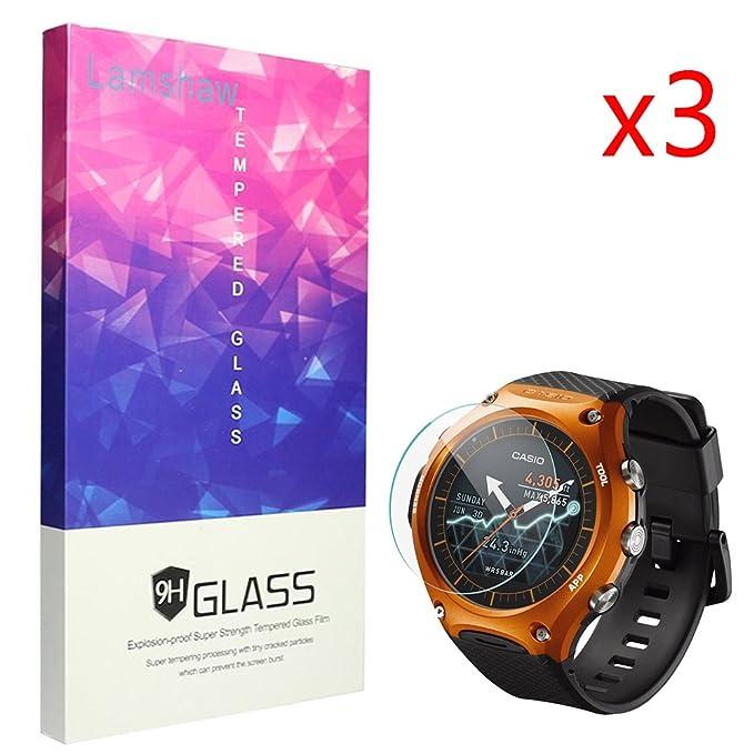 Casio WSD-F10 Protector de pantalla, lamshaw 9H vidrio ...