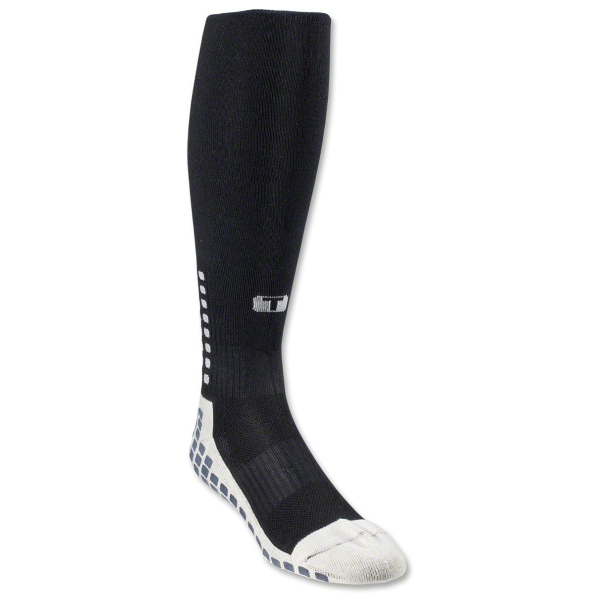 Full Length Over Calf Football Socks - Black/White Trusox 23150
