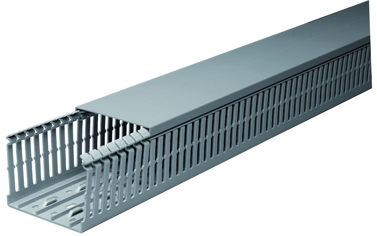20 Sets of 2''x1.5''x2m Gray High Density Wiring Ducts and Covers - UL/CE/CSA Listed