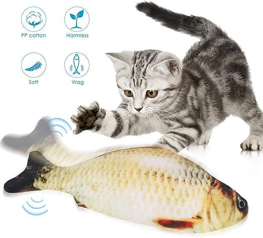 Petyoung Gato Catnip Juguetes Simulación Muñeca Eléctrica Pez Realista Felpa Interactiva Mascotas Masticar Mordedura Suministros para Gato/Gatito Pez Gato Juguete para Gatos: Amazon.es: Productos para mascotas