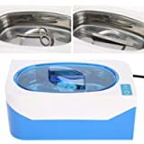 Electronic High Frequency Jewelry Cleaner with Digital Heater Timer Stainless Steel Basket Jewelry Watch Eyeglass…