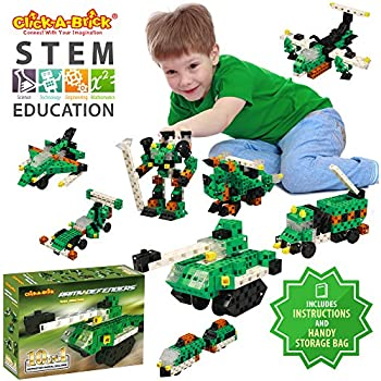 click a brick army defenders 100pc building blocks set best stem toys for boys. Black Bedroom Furniture Sets. Home Design Ideas
