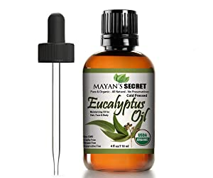 USDA Certified Organic Eucalyptus Smithii oil Pure, Best Therapeutic Grade Essential Oil Large 4ounce Glass Bottle and dropper