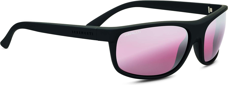 Serengeti Alessio Sunglasses Black Unisex-Adult Medium