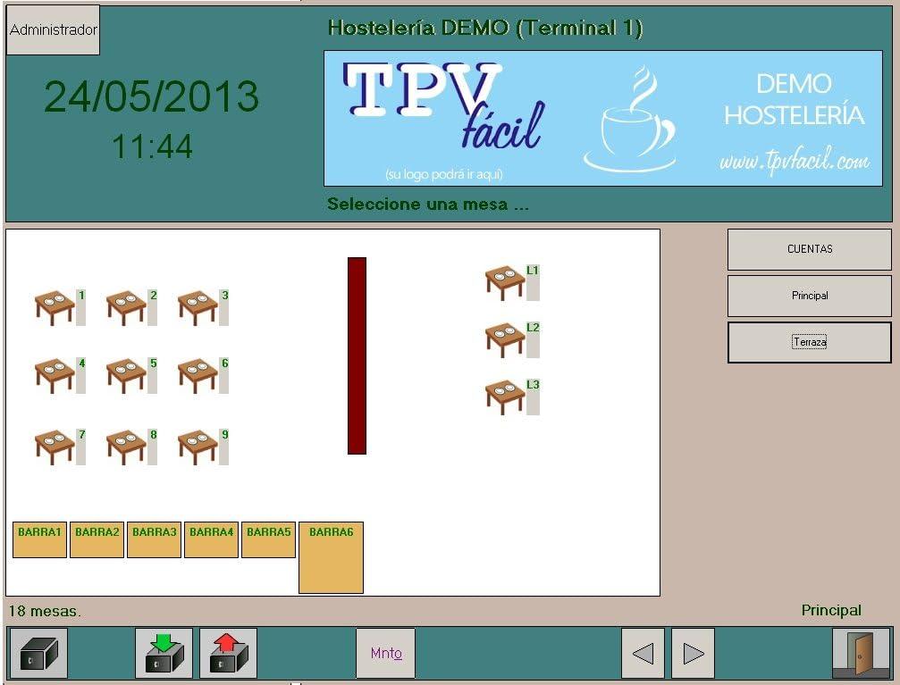 Software para TPV : TPVFÁCIL HOSTELERÍA monopuesto: Amazon.es: Software