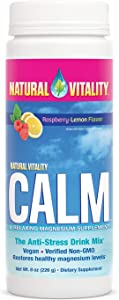 Natural Vitality Calm, The Anti-Stress Dietary Supplement Powder, Raspberry Lemon - 8 Ounce (Packaging May Vary)