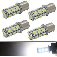 1156 1141 7506 P21W BA15S LED Interior Light Bulb Backup Reverse Lights Tail RV Camper 18-5050 SMD 12V White Pack of 4