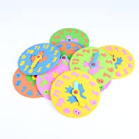 FemmeStopper Foam Puzzle Clock,Early Educational Toys,Digital Puzzles,Promotion Toys,Kids Toys,Math Toys,Mixed Color,13.5cm. 1 PC.