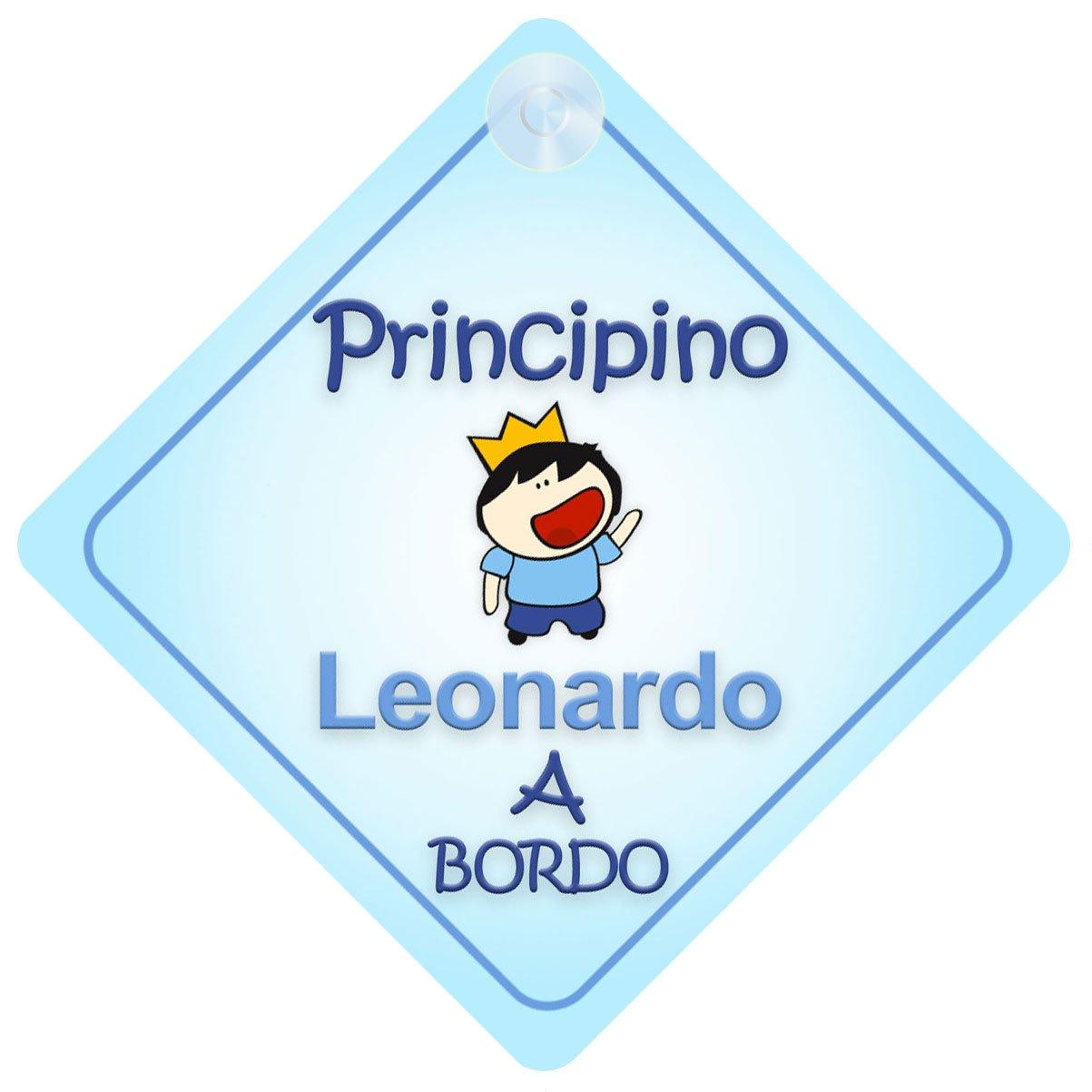 principino adesivo macchina neonato a bordo per maschi principe Principino Leonardo bambino adesivo bimbo