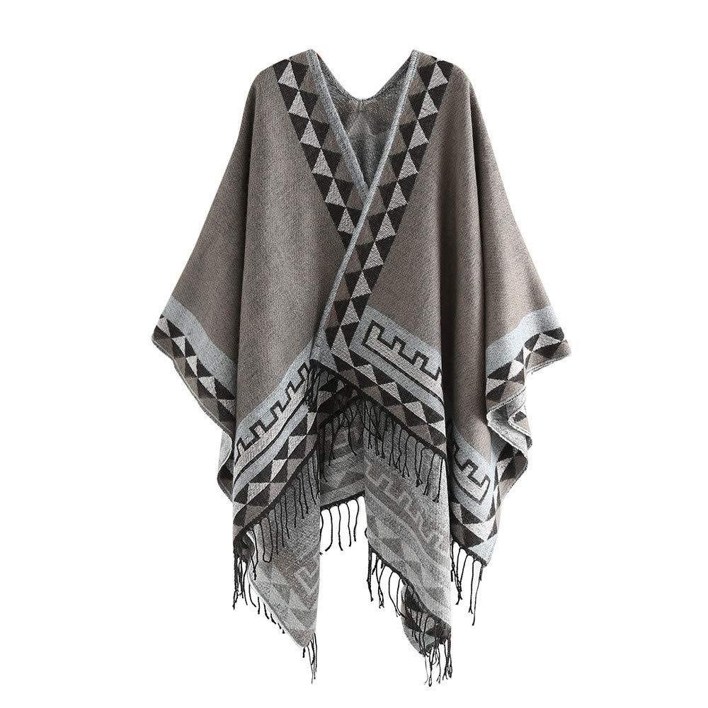 Fashion Scarves for Women Cashmere Wool Striped Tassel Shawls Soft Neck Scarf