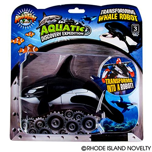 """Safari Discovery Expedition Transforming Orca Whale to Robot Toy ~ 5"""" Action Figure ~ Great Gift for Boys and Girls!"""