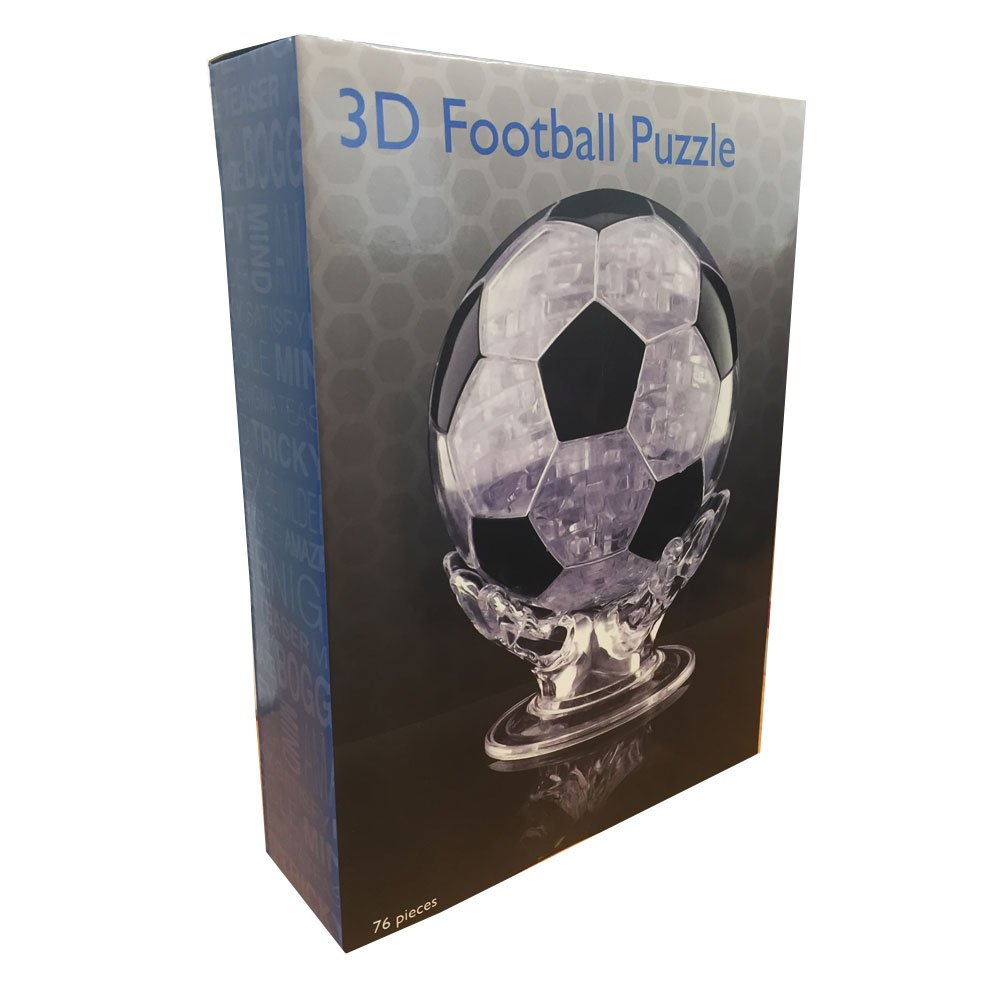 3D Crystal Puzzle - Football The Discovery Store