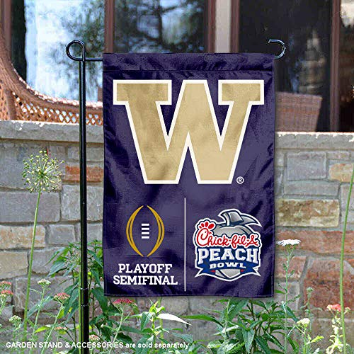(College Flags and Banners Co. University of Washington Huskies 2016 Semifinal Peach Bowl Garden Flag)