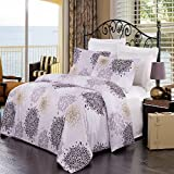 Fifi 3-piece King / Cal-king Comforter Cover (Duvet-Cover-Set) 100-Percent Brushed Microfiber